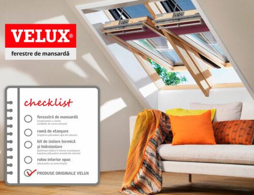 Listă de verificare pentru alegerea ferestrelor de mansardă potrivite