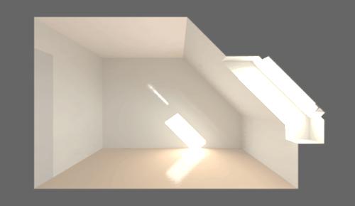 lumina prin fereastra de mansarda