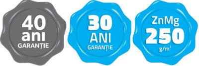 Până la 40 ani garanție